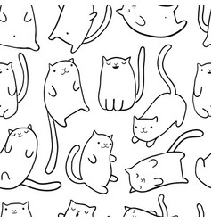 hand draw funny cats vector image