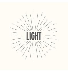 hand drawn sunburst - light vector image