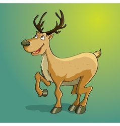 happy reindeer vector image