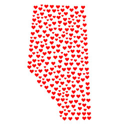 Heart collage map of alberta province vector