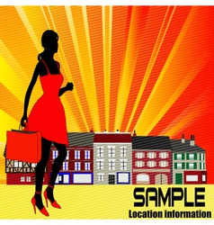 high street shopping vector image vector image