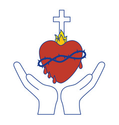 Holy sacred heart vector