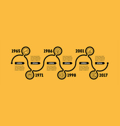 Horizontal infographic timeline business concept vector