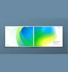 horizontal liquid abstract cover background design vector image