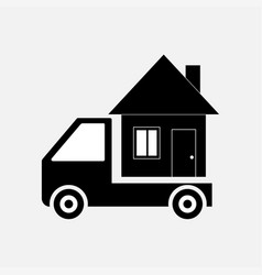 icon moving home transportation vector image