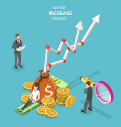 Isometric flat concept of income increase vector