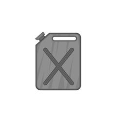 Jerrycan icon black monochrome style vector image