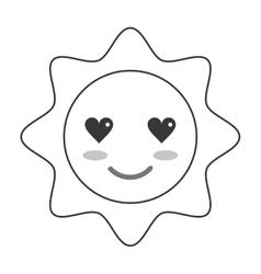 Kawaii sun icon vector