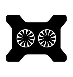 laptop cooling pad vector image