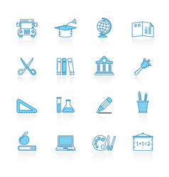 line with blue background education and school vector image