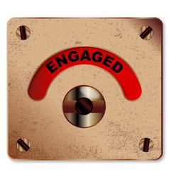Loo engaged indicator vector