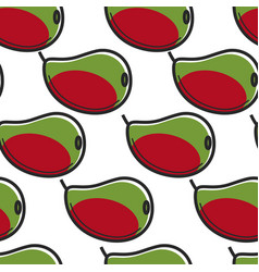mango fruit south africa harvest seamless pattern vector image