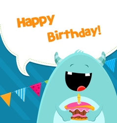 Monster With Cake vector