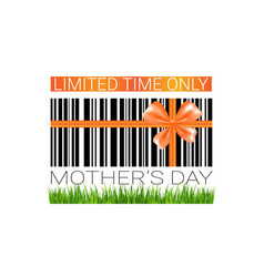 mothers day sale sign isolated limited time only vector image