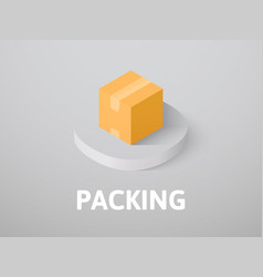 packing isometric icon isolated on color vector image