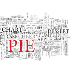 Pie word cloud concept vector