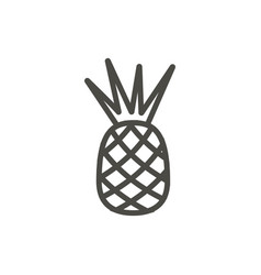 pineapple icon outline food line tropical vector image