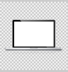 realistic laptop computer notebook vector image