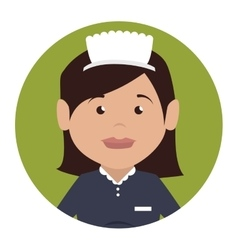 Room service character hotel service vector