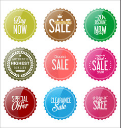 sale colorful stickers collection 2 vector image