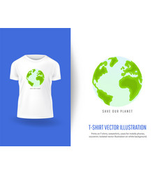 Save our planet prints on t-shirts vector