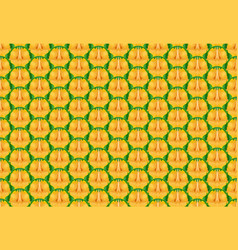 seamless pineapple texture and pattern vector image