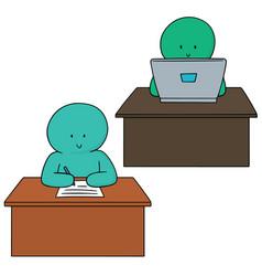 set of office worker vector image