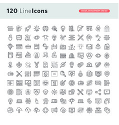 set of premium thin line icons vector image