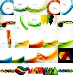 Set of wave layouts vector image