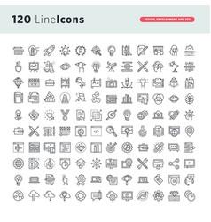 Set premium thin line icons vector