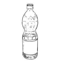 sketch of plastic bottle vector image