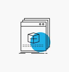 software app application file program line icon vector image