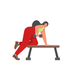 sports people flat style design vector image