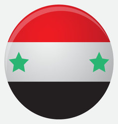 Syria flag icon flat vector image