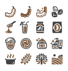 tamarind icon set vector image