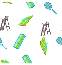 Tennis pattern cartoon style vector