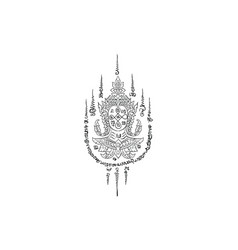 Thai yantra thai traditional tattoo vector