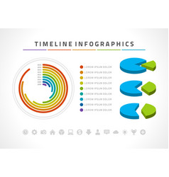 timeline infographics and icons design vector image