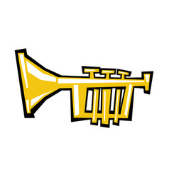 Trumpet cartoon icon vector