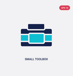 Two color small toolbox icon from fashion concept vector