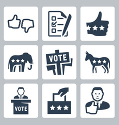 voting and politics icons set vector image