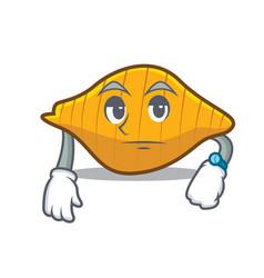 Waiting conchiglie pasta mascot cartoon vector