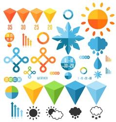 weather set infographics elements vector image
