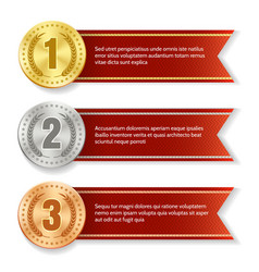 Winner products medal tags vector