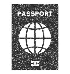World Passport Icon Rubber Stamp vector