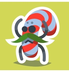 Emoticon Icon Happy New Year Candy vector image vector image