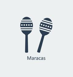 maracas icon silhouette icon vector image vector image