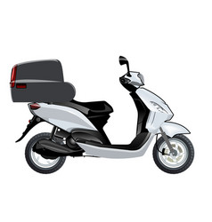 scooter mock-up vector image