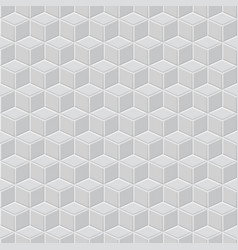 seamless pattern of gray cubes vector image vector image