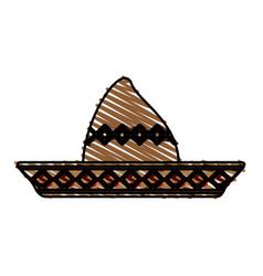 beach hat vector image